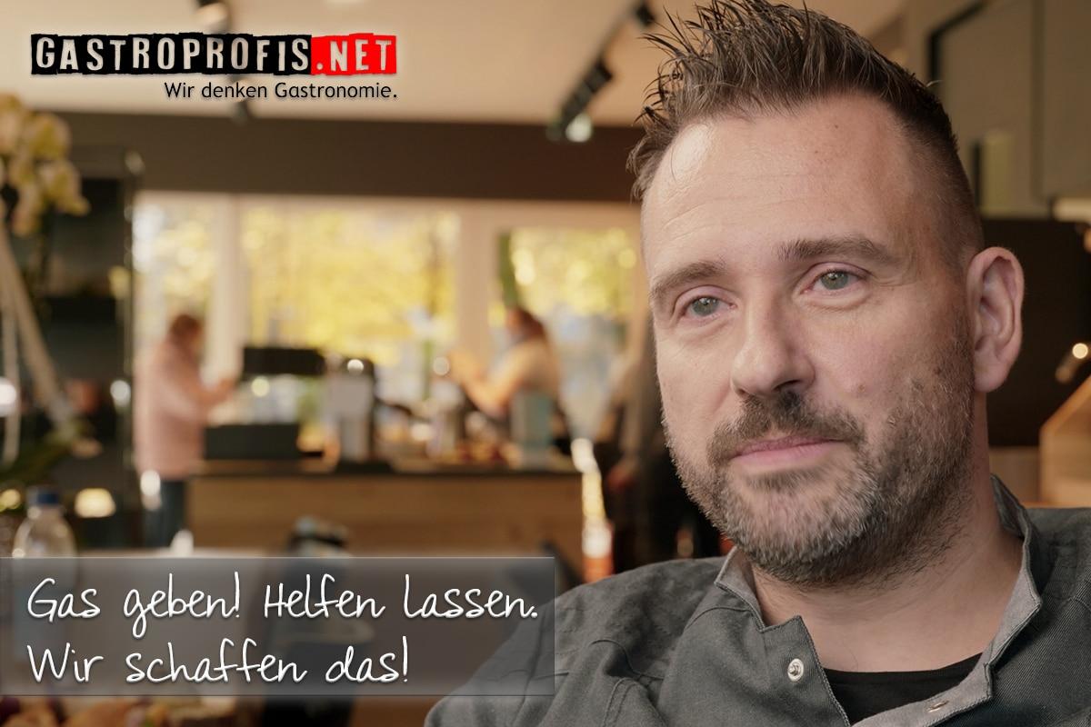 Gründer und Gastronom Sascha Wenderoth hat eine eindeutige Botschaft: Gas geben! Jetzt erst recht.