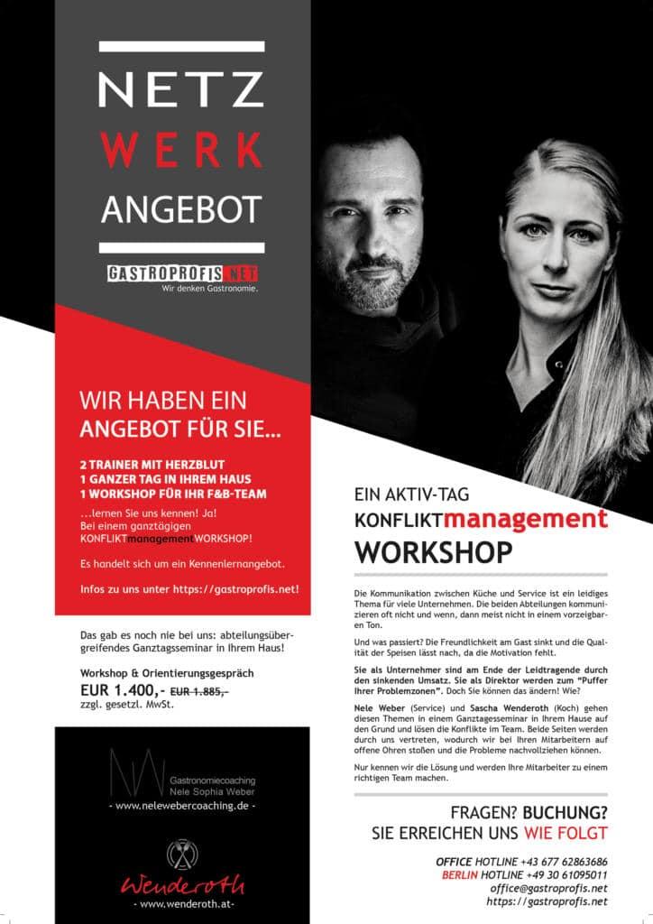 KONFLIKTmanagementWORKSHOP für die Hotellerie in Deutschland und Österreich